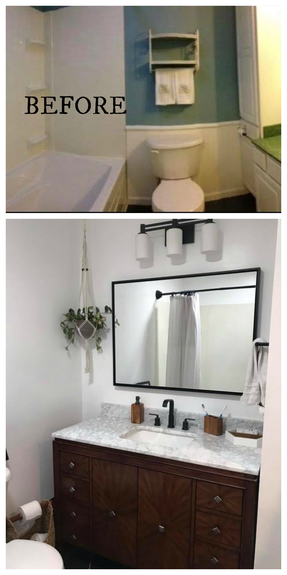 Fantastic 20 Bathroom Makeovers Before And Afters Nesting With Grace Best Image Libraries Thycampuscom