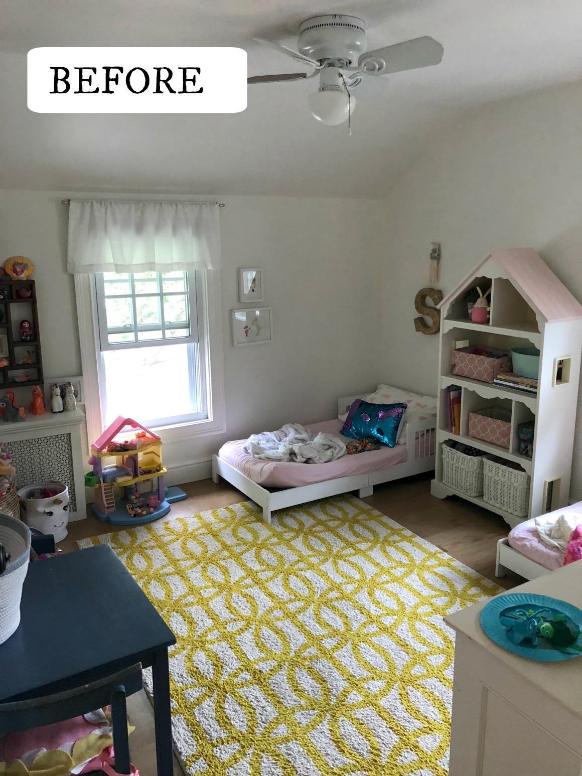 Girls Affordable Bedroom Plan