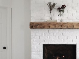 Fireplace Ideas- Painted White Brick
