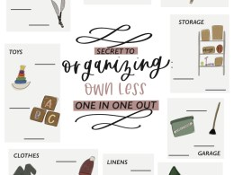 Organizing FREE Printable- How to decide on How many items!
