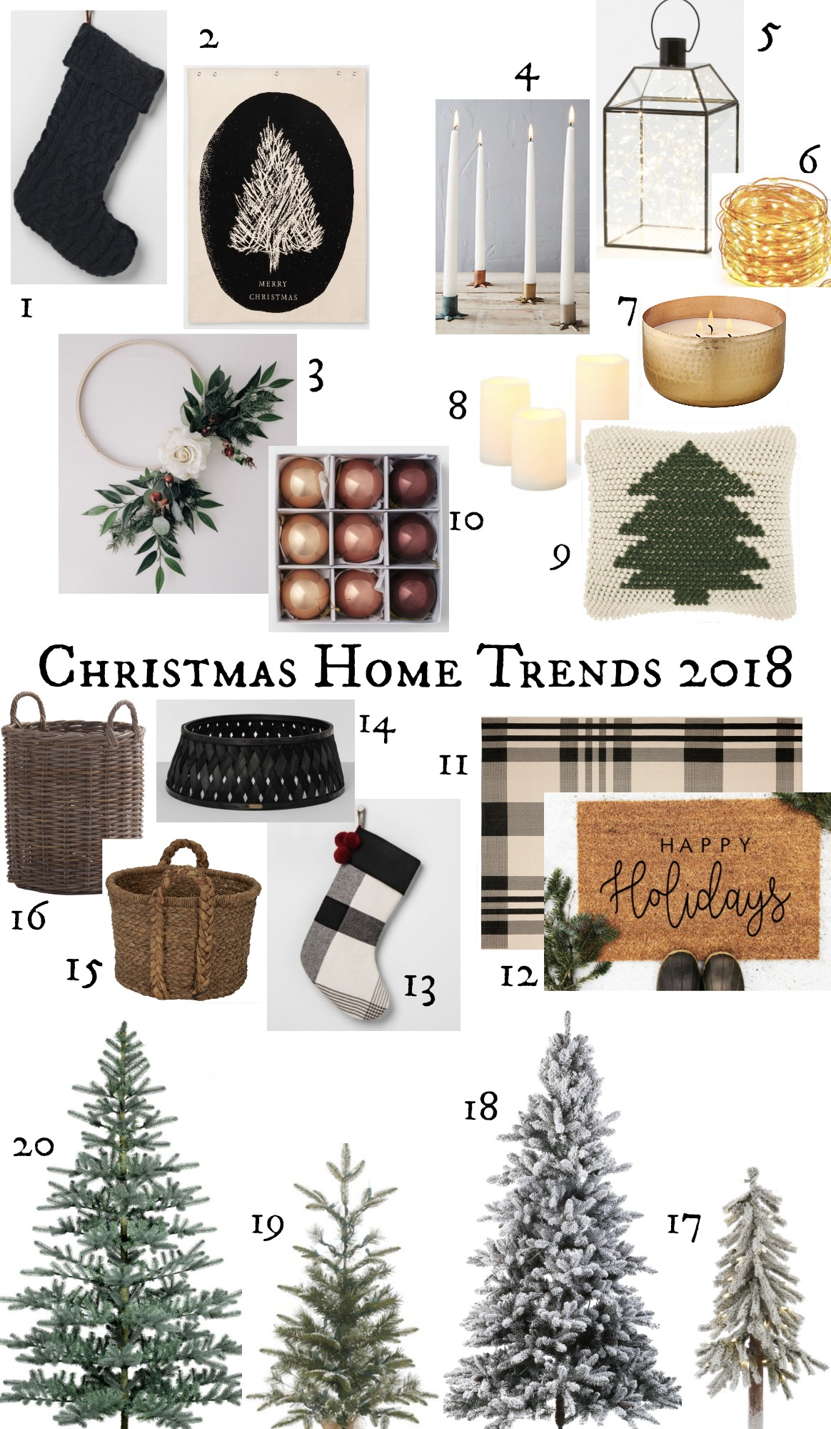 Christmas Home Decor.Top Home Decor Christmas Trends 2018 Nesting With Grace