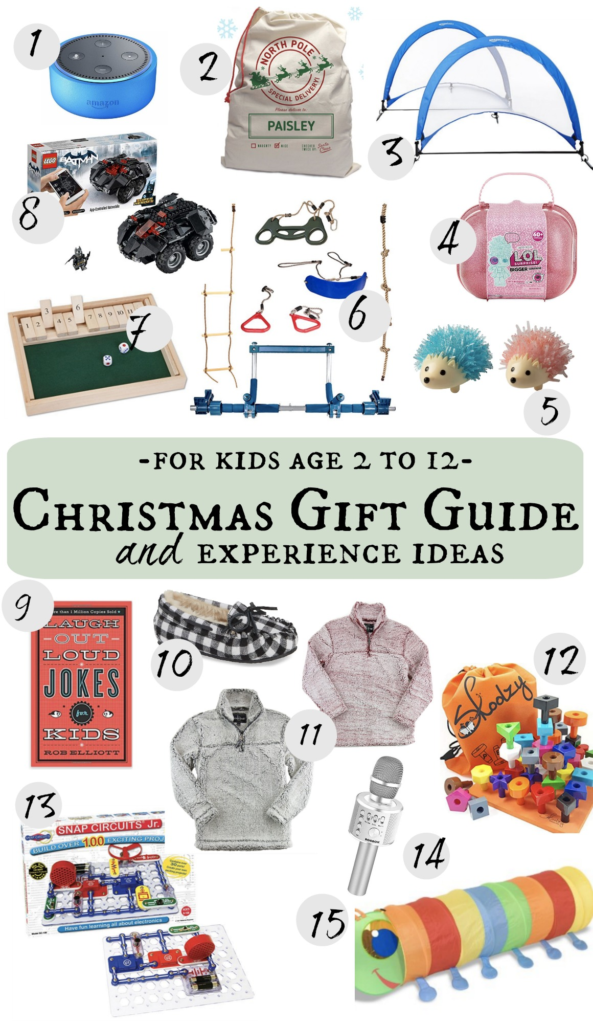 Christmas Gift Guide for Kids with Experience Ideas too! - Nesting ...