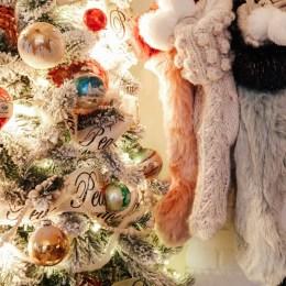 Flocked Vintage Christmas Tree