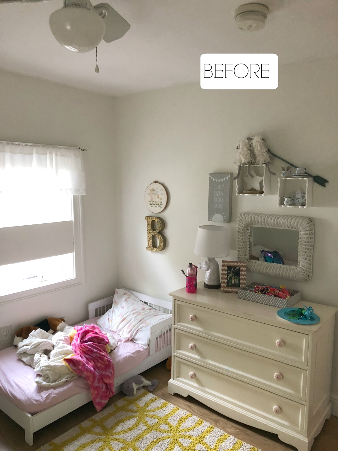 Small Girls Bedroom Makeover with Wallpaper Accent Wall ... on Small Bedroom Ideas For Women  id=56890