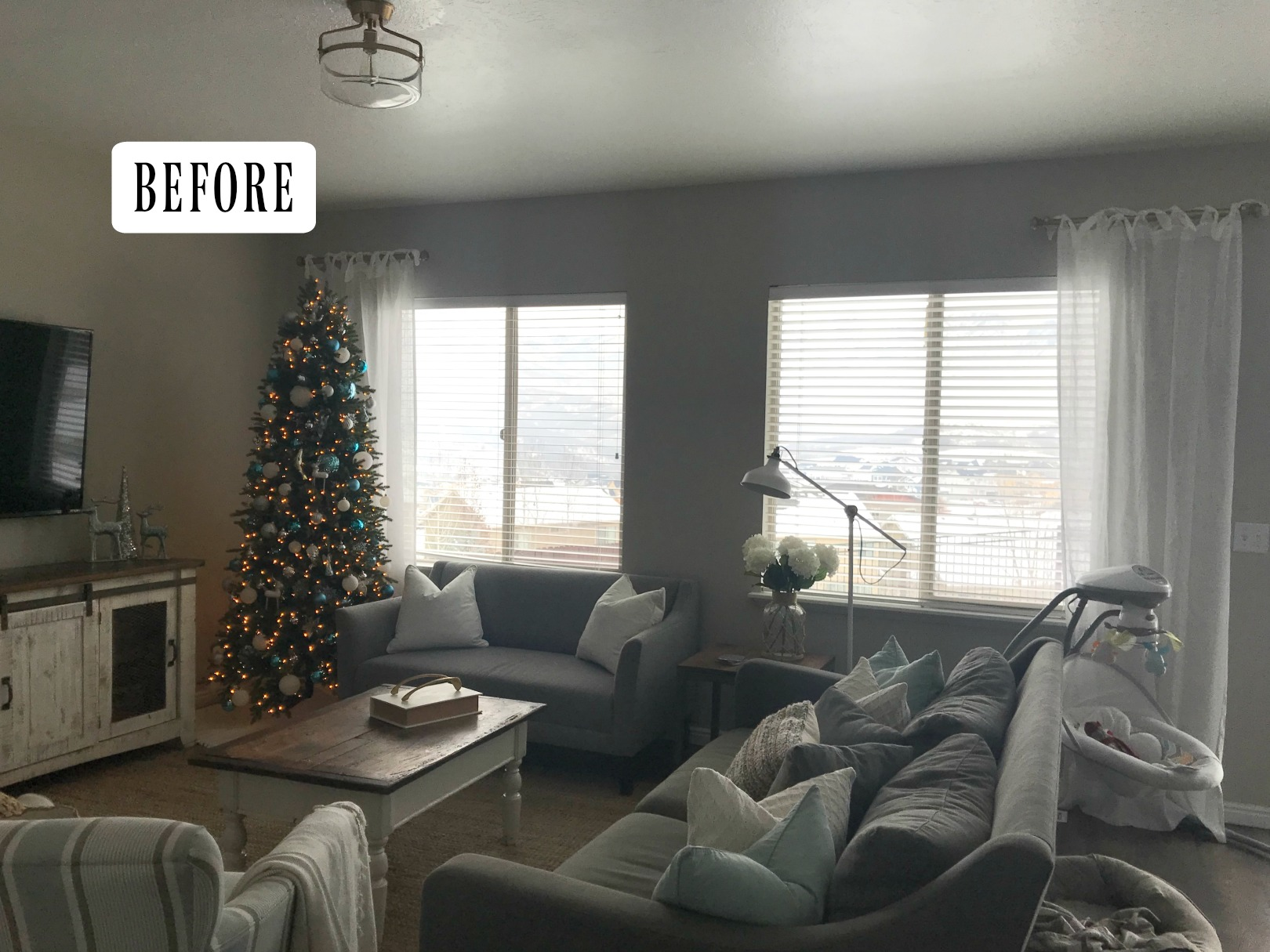 Family Room Makeover- Decorating around a TV