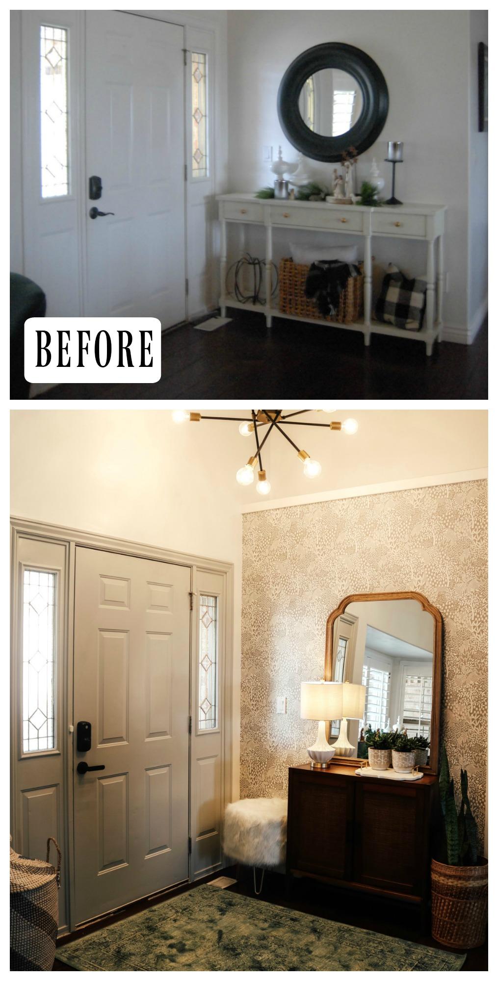 #36- Wallpaper Transformation- Entry Makeover (Wallpaper HERE)