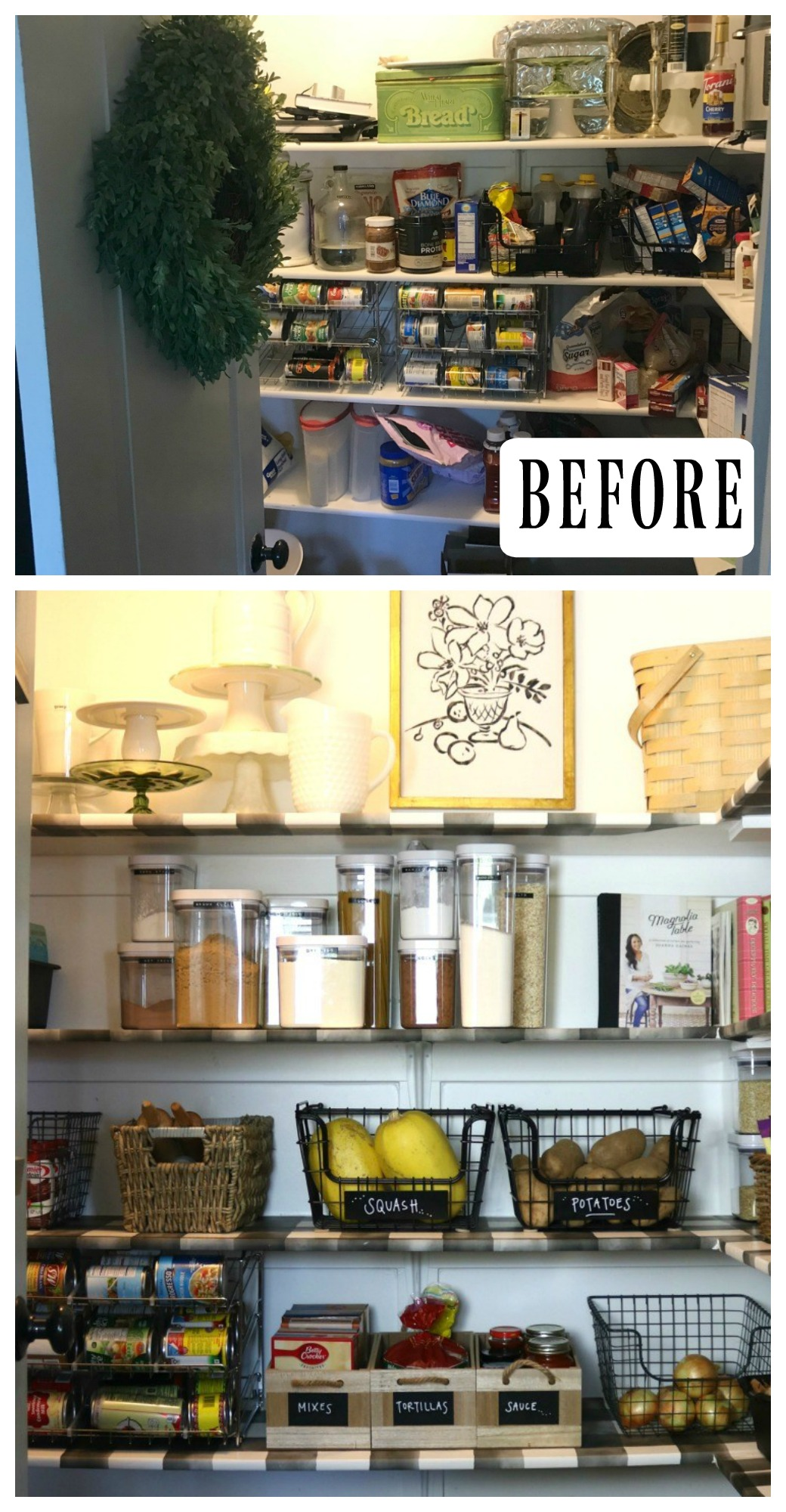 #34- Wallpaper Transformation- Pantry Makeover (Wallpaper HERE)