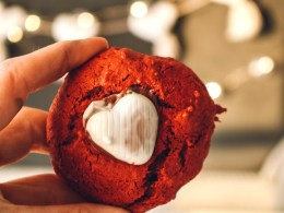 Three Ingredient Red Velvet Cookies- Easy Valentine Day Cookies