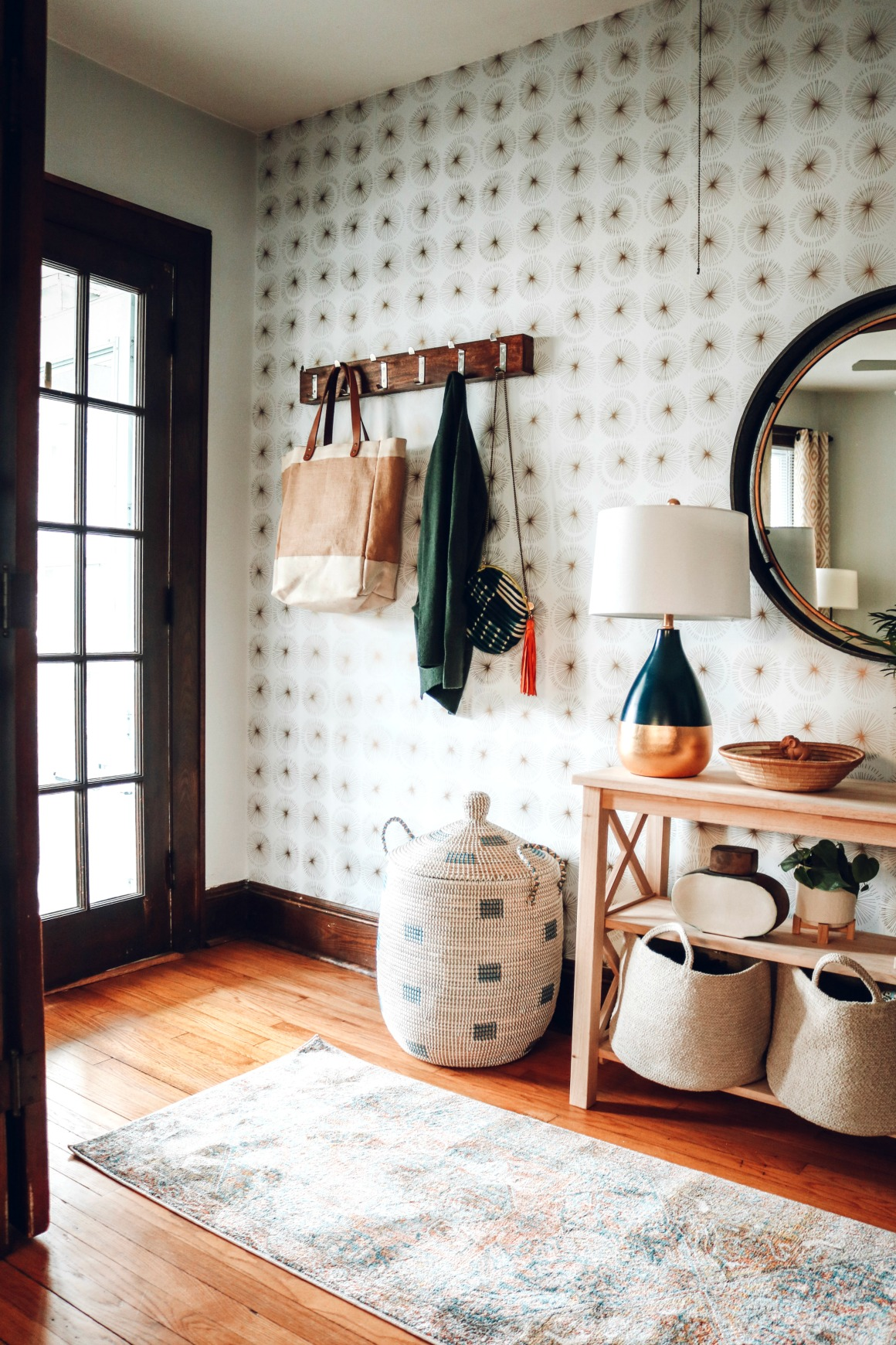 Entry Ideas with No Closet!