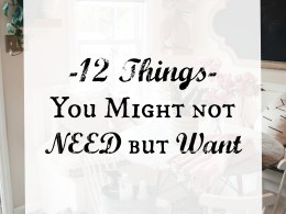 12 things you might not need but want!