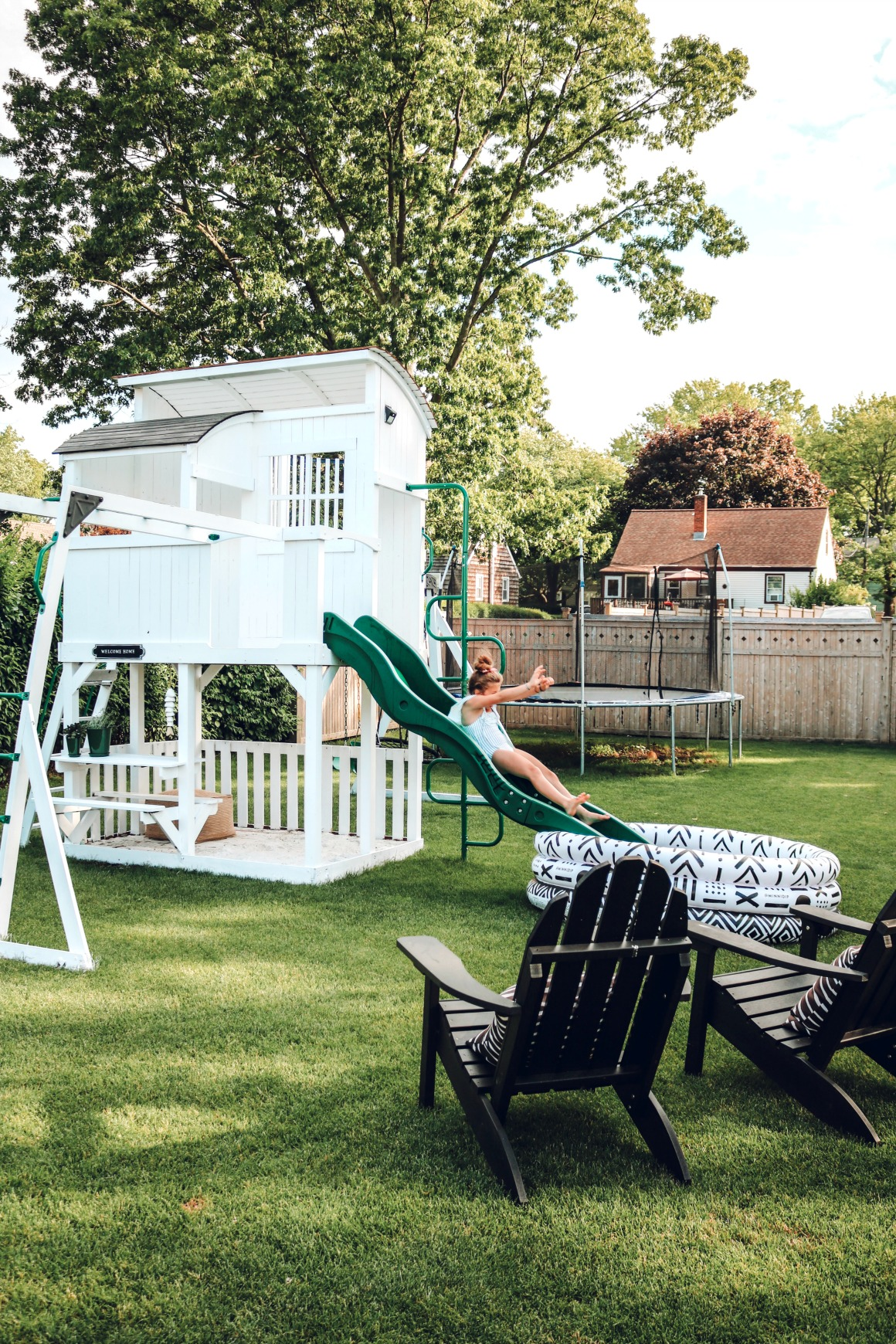 Painted White Playset