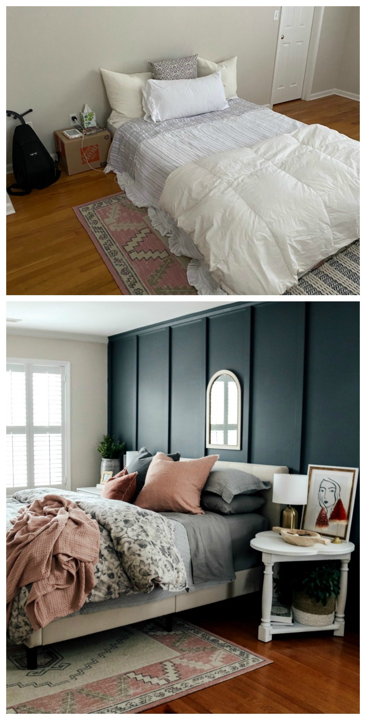 Bedroom Makeover with Board and Batten Walls