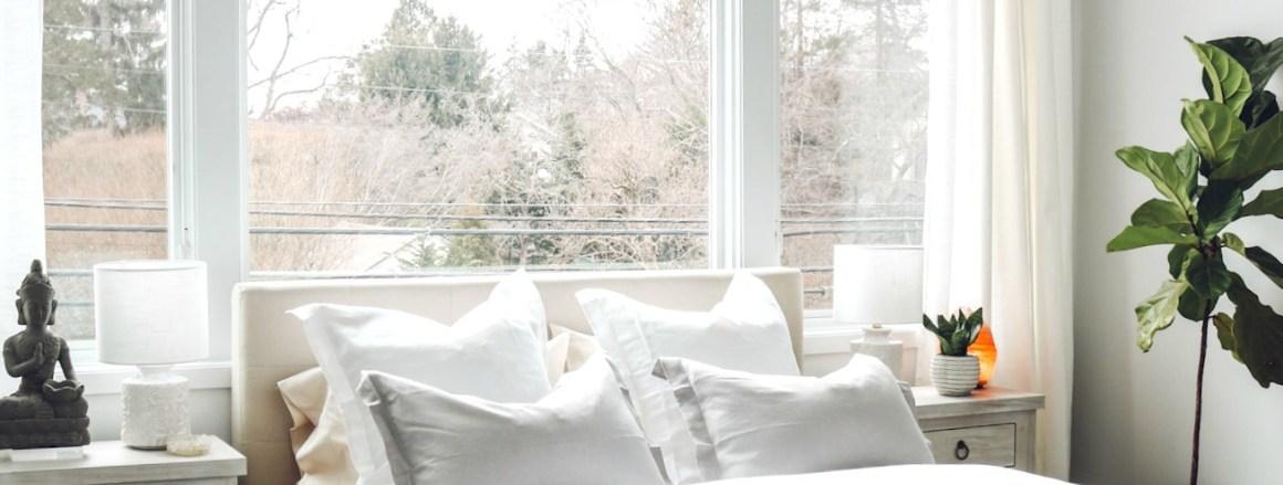 White Boho Master Bedroom Makeover