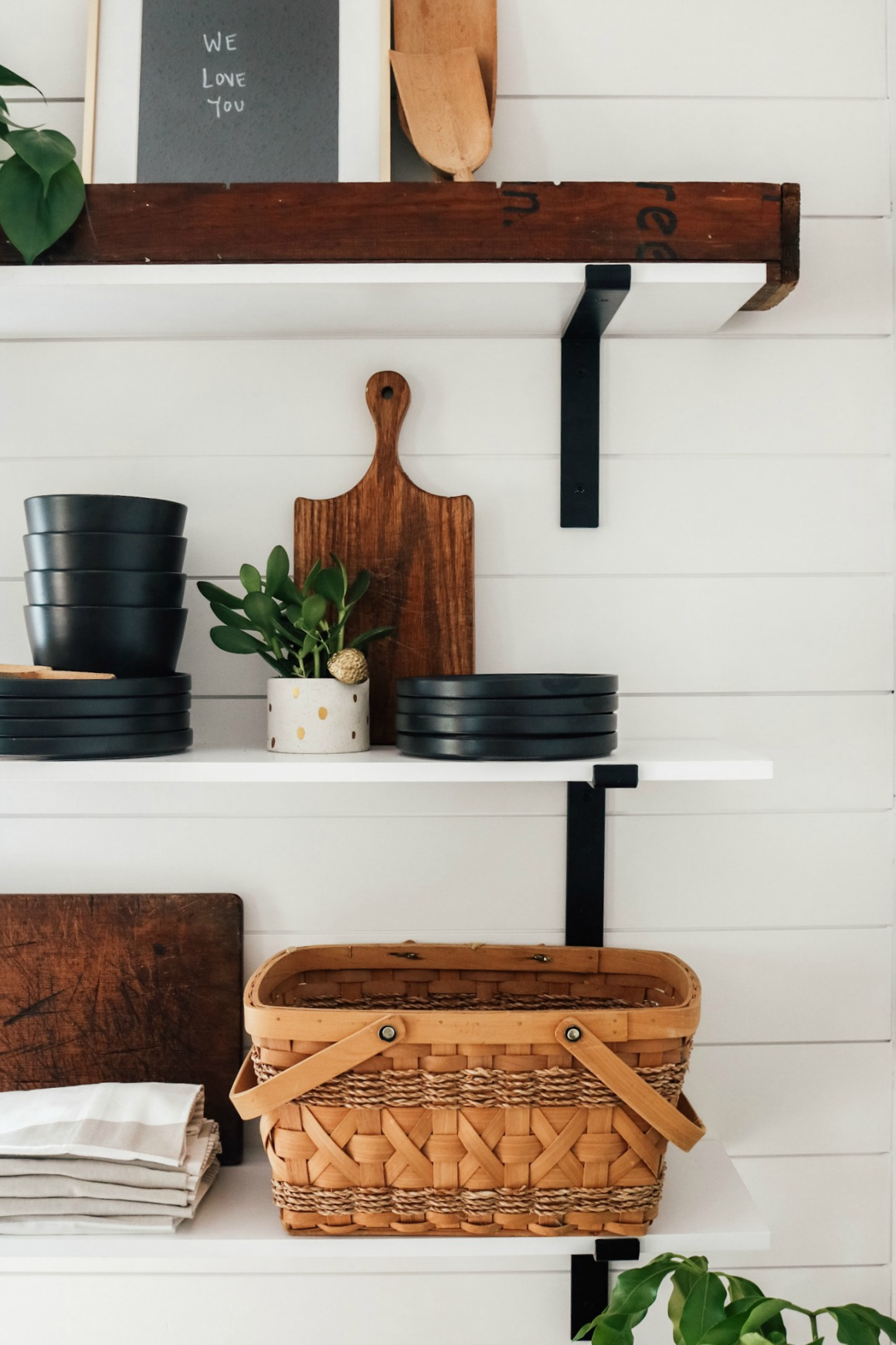 Shiplap Kitchen- Open Floating shelves- Small Kitchen-1