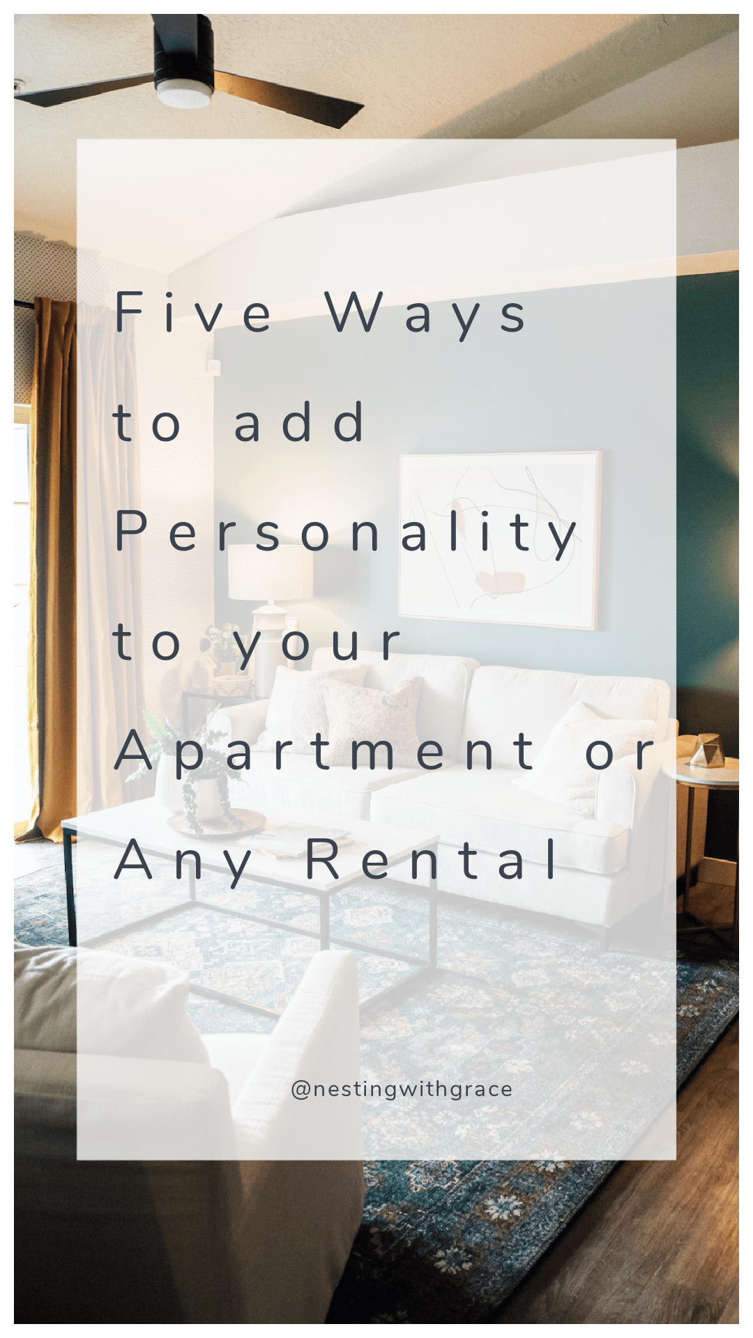 Five Ways to add Personality to your Apartment or Any Rental Peel and Stick Wallpaper Accent Wall Plant Tips