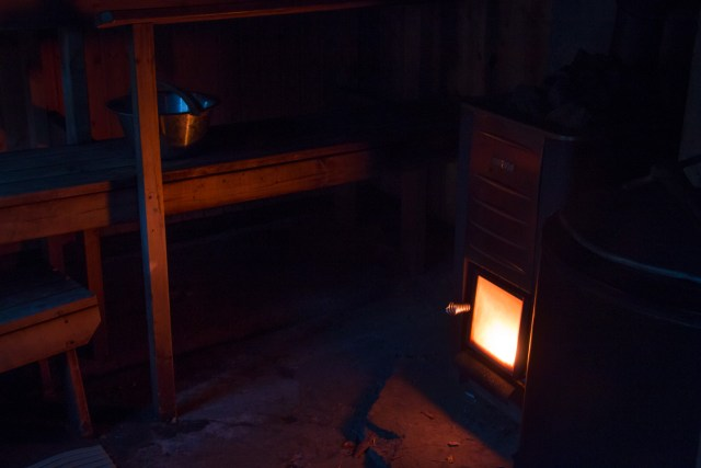 1:48 a.m. Heating thesauna at Rokansaari
