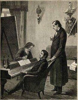 Нестор Кукольник познакомился с композитором Михаилом Глинкой и художником Карлом Брюлловым в конце 1830-х годов. Долгое время вокруг них собиралась вся творческая интеллигенция Петербурга. А они сами гордо называли себя союзом трех искусств: литературы, музыки и живописи.