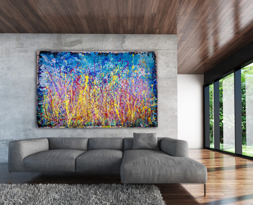 """Sold painting """"Infinite Glow"""" by abstract artist Nestor Toro, recently sold to a collector in London."""