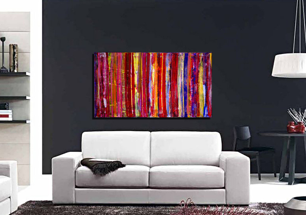 SOLD - Abstract Transition (to the left) - artist Nestor Toro