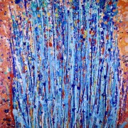 SOLD - Drizzels 4 by abstract painter and Los Angeles artist Nestor Toro