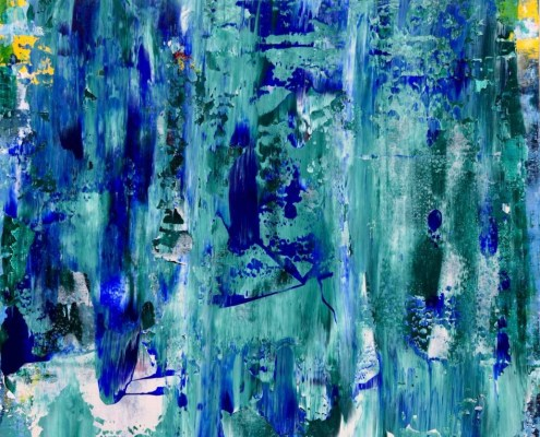 """Sold painting """"forest-rainfall"""" by artist Nestor Toro"""