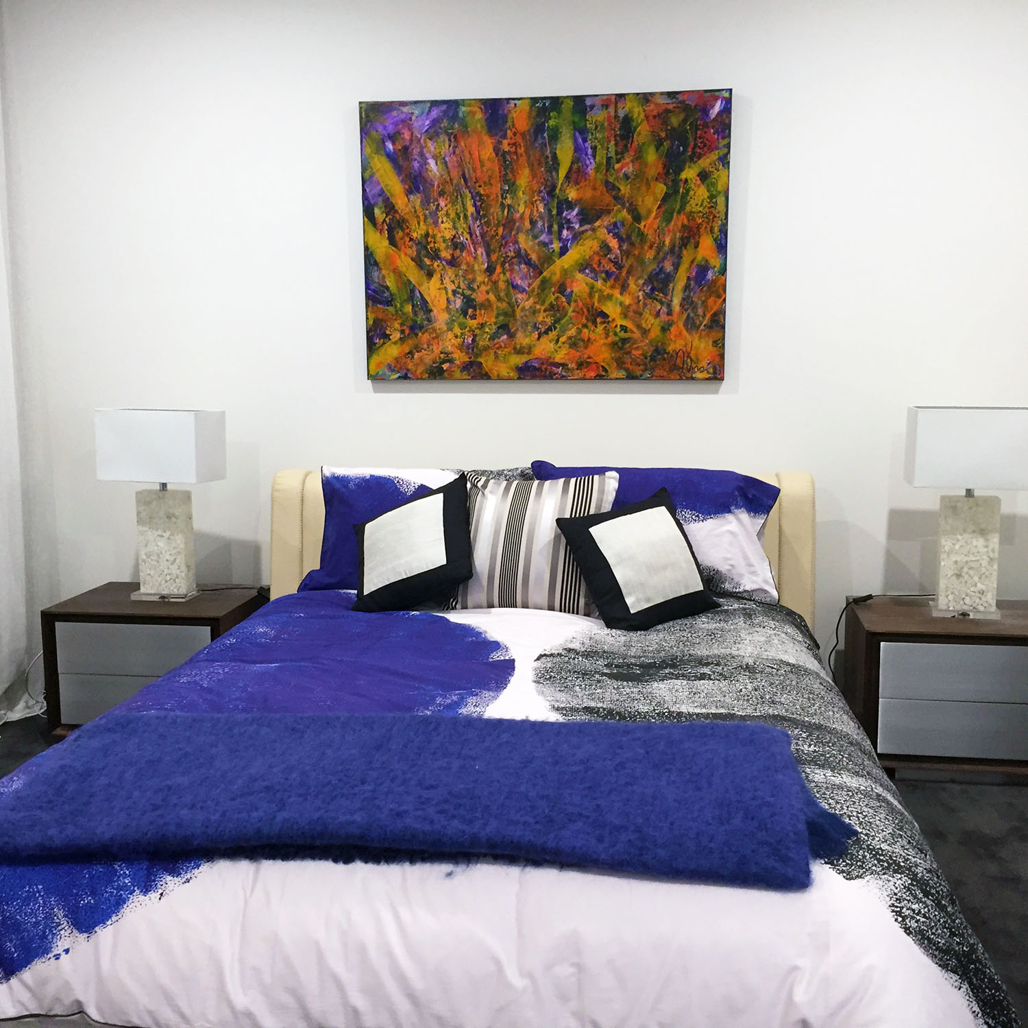 Orange Spectra - SOLD and on display in collector's home looking amazing! Artwork by Nestor Toro