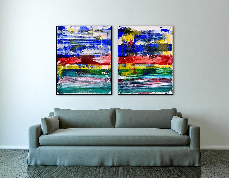 Abstract Parallel II (2016) by artist painter Nestor Toro has been SOLD