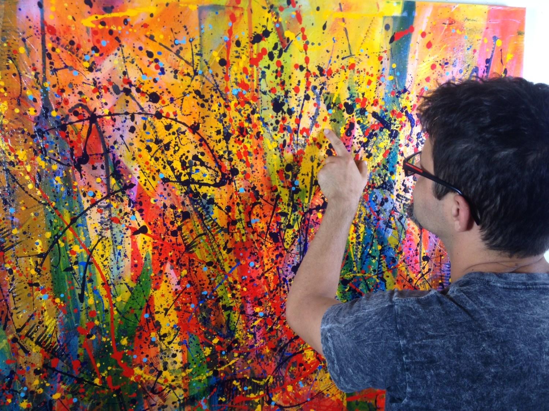 SOLD - Gynoecium pistils Painting by L.A. artist - Nestor Toro