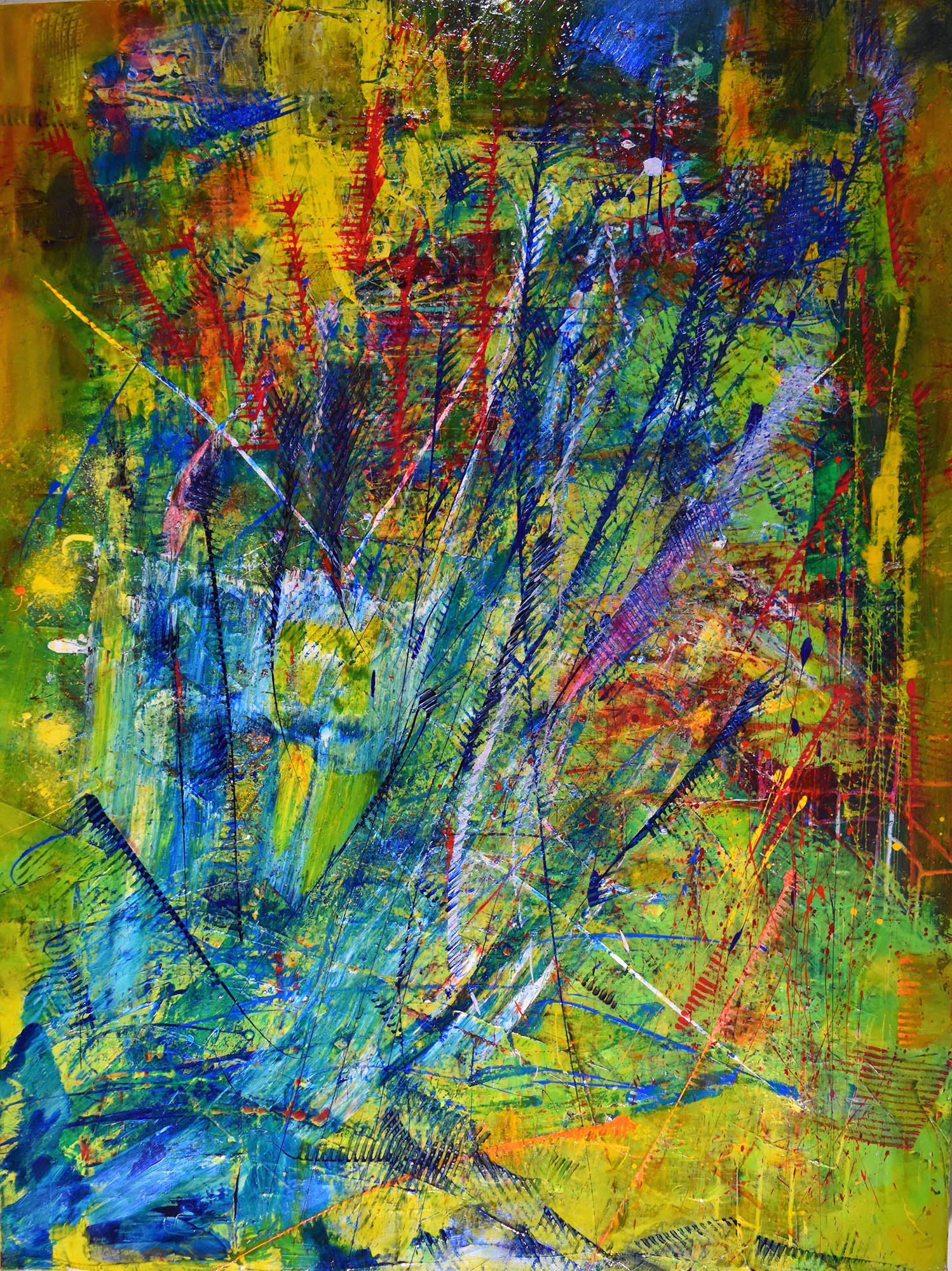 """SOLD ARTWORK Bold Statement Painting titled """"Zephyrs"""" By Los Angeles Painter Artist - Nestor Toro"""