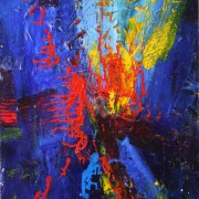 SOLD Artwork - Distraction from Blue - Framed and Signed (2014)