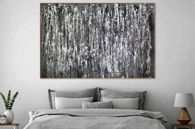 December by Nestor Toro - monochromatic work - shades of grey