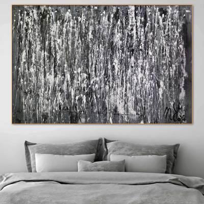 December by Nestor Toro - monochromatic work - shades of grey