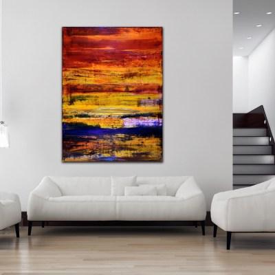 Iridescent Volcanic Spectra (2015) Acrylic painting by Nestor Toro
