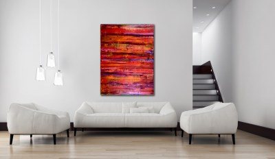 Abstract Spectra 3 - STUNNING BOLD AND POWERFUL (2016) Mixed Media painting by Nestor Toro