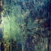 SOLD - Forrest deep (Childhood Landscape) by abstract painter Los Angeles artist Nestor Toro