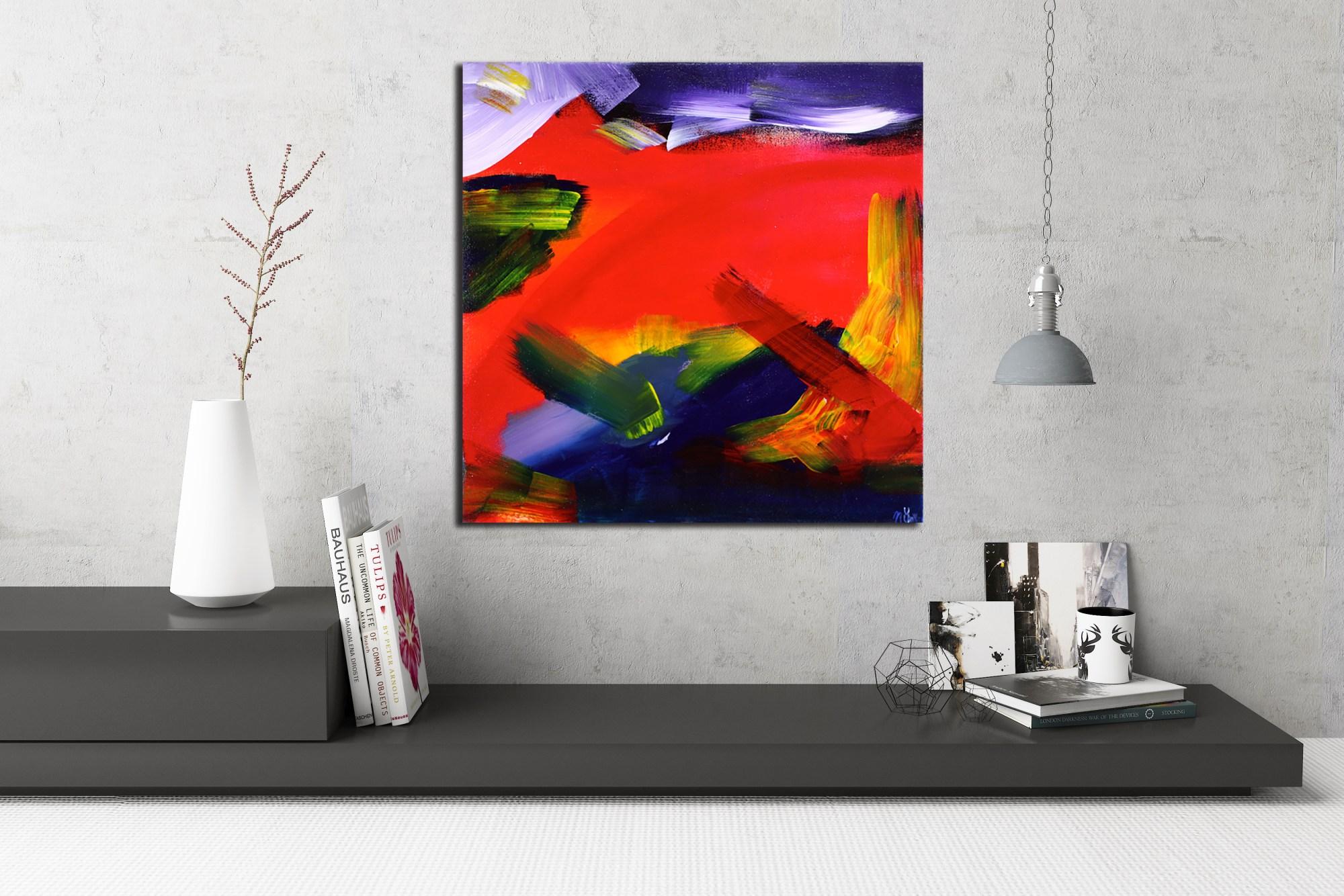 Fiery Dreams - 9.5 Hour Series (2014) Acrylic painting by Nestor Toro