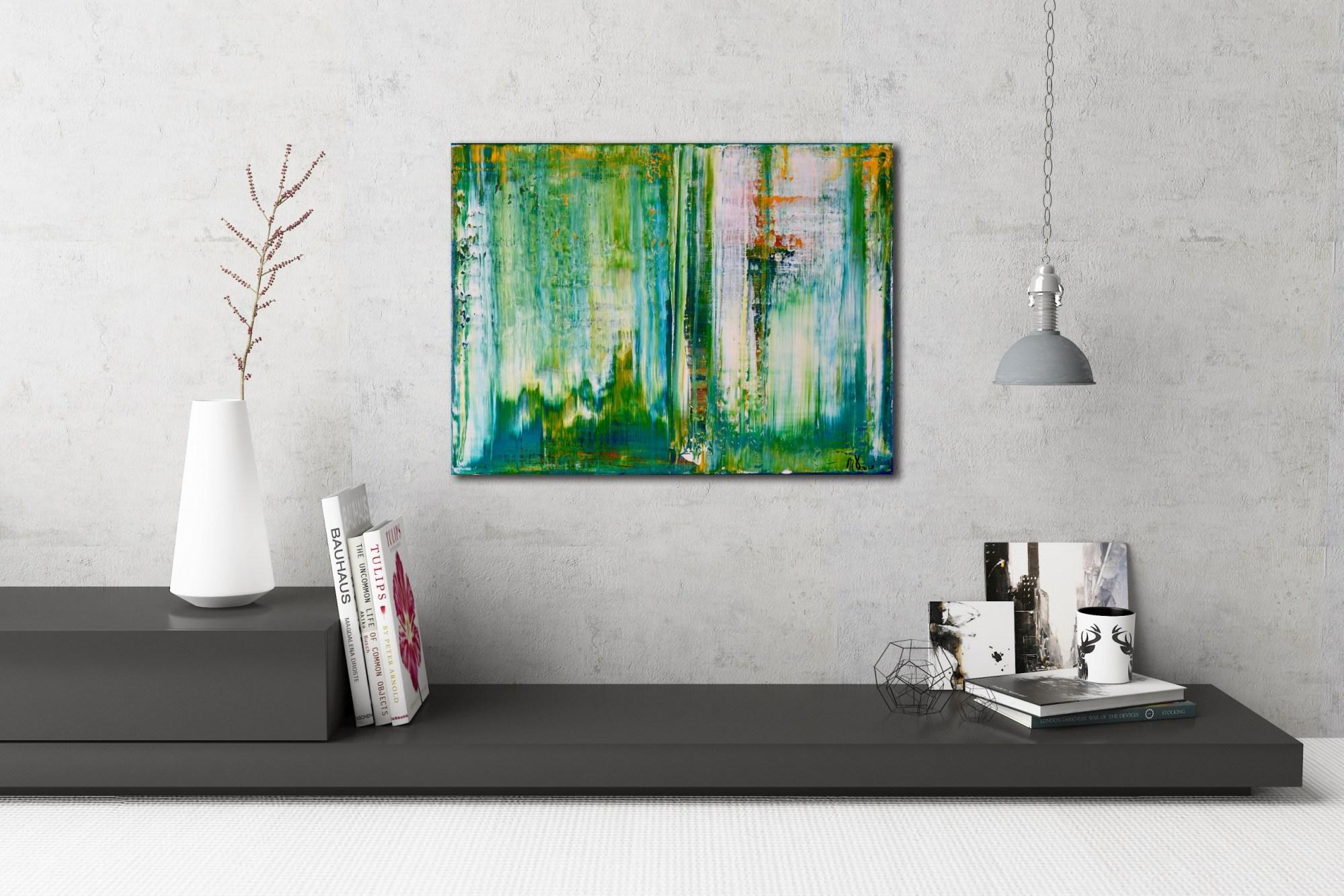 Spring Showers (2016) Acrylic painting by Nestor Toro