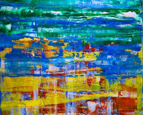 SOLD - Dimensional Terrain-Visible Contrast (2017) Acrylic painting by Nestor Toro - Sold