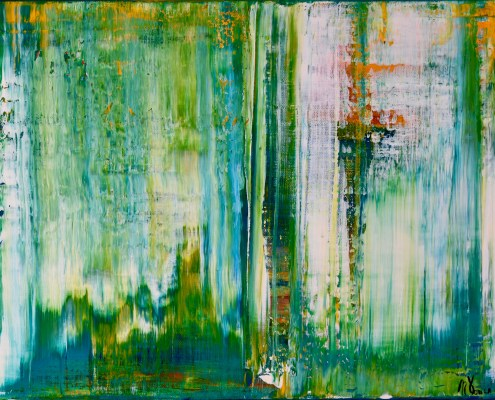 SOLD - Spring Showers (2016) Acrylic painting by Nestor Toro in Los Angeles
