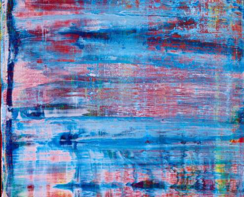 Translucent Blue Landscape (2016) Acrylic painting by Nestor Toro in Los Angeles
