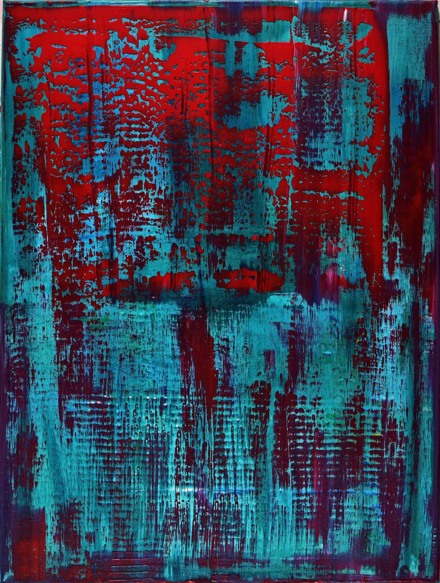 SOLD Shadowy Spectra (2015) Acrylic painting by Nestor Toro in Los Angeles