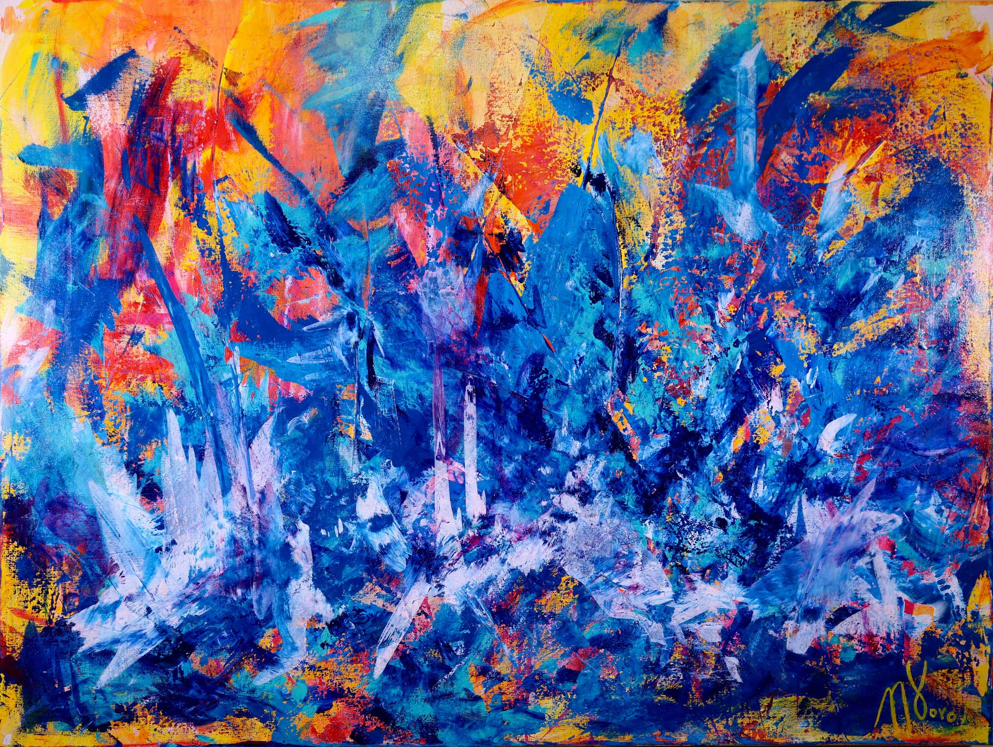 Sold Faces Of Blue Abstract Art Los Angeles Abstract