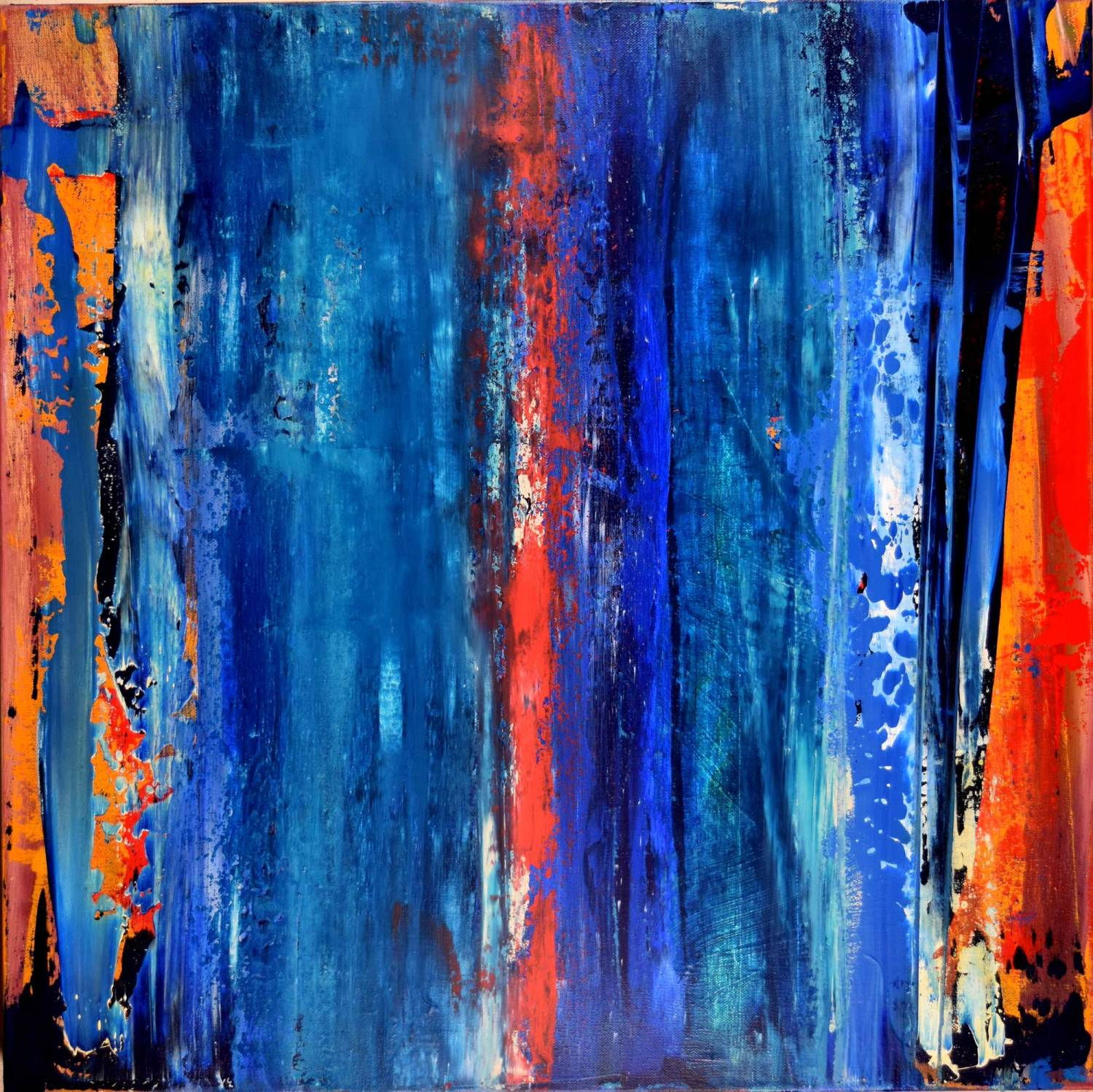 Abstract Painting - Night of Thunder I (2016) Abstract art - Acrylic painting by Nestor Toro in Los Angeles