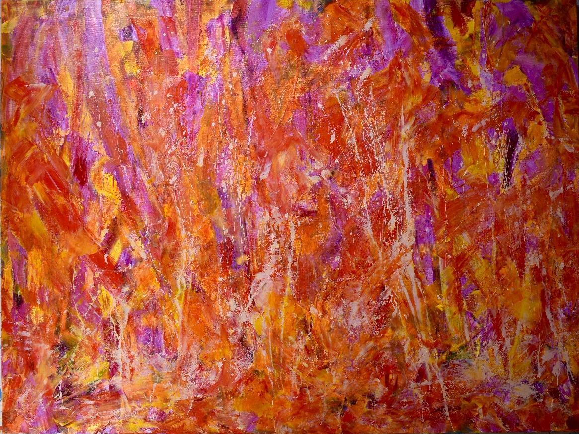Crystalline Pink and Golden Fields