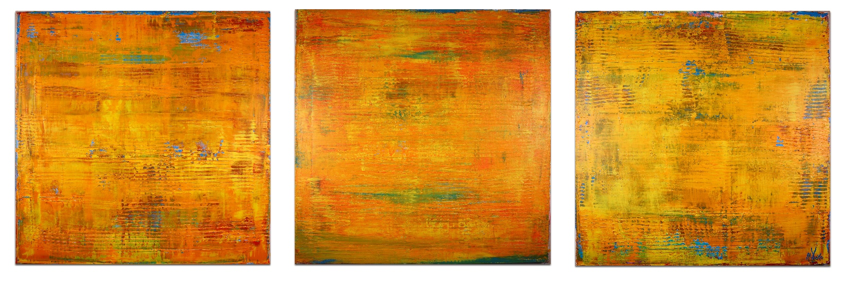 Fire Storm by Nestor Toro 2017 Los Angeles -Sold abstract art