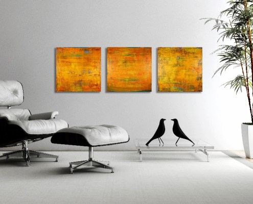 Fire Storm - Sold artwork by los angeles abstract artist Nestor Toro