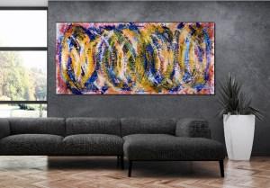 Sun Magnetism - Large acrylic painting - Nestor Toro - 2017