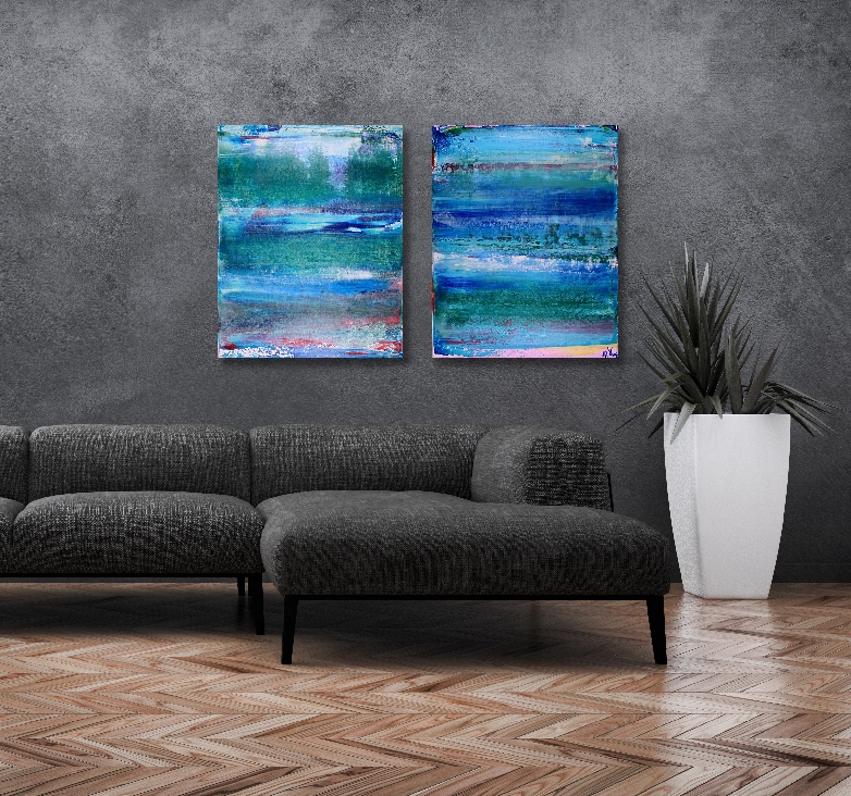 Cloud Forest 2 canvas abstract painting by Nestor Toro