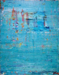 SOLD - Sky Walking by abstract painter Nestor Toro 2017 - SOLD ART