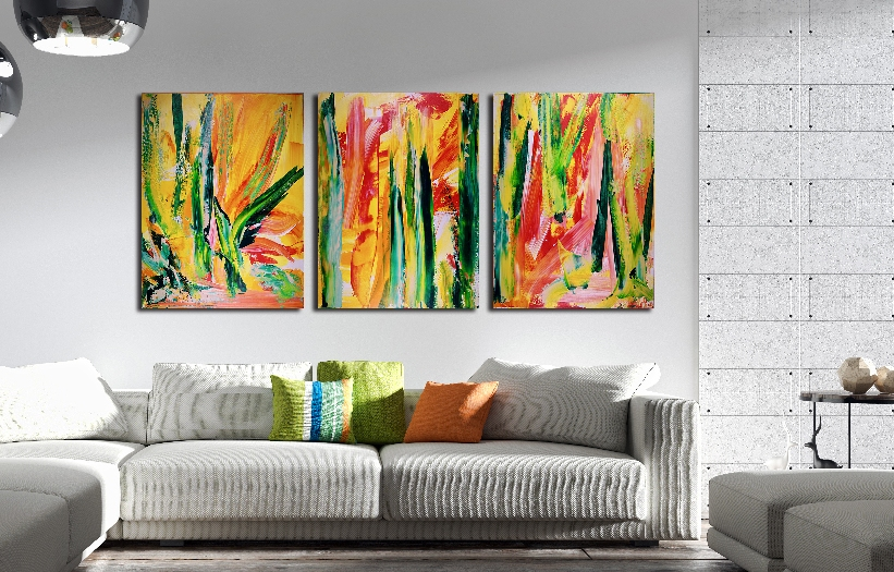 Interrupted Forest - Triptych by Nestor Toro